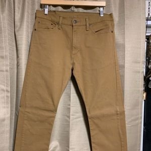 Levi's 513 Slim Straight Jeans (33x30/Med. Beige)